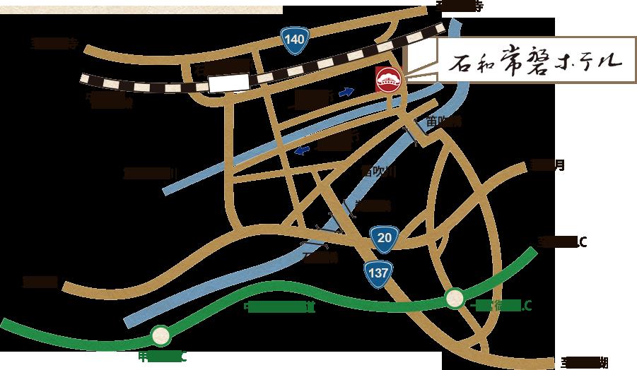 ホテル周辺地図